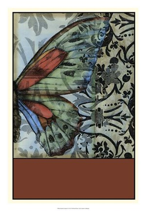 Framed Butterfly Tapestry II Print