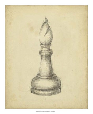 Framed Antique Chess II Print
