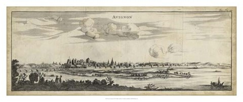 Framed View of Avignon Print