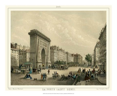 Framed La Porte Saint Denis Print