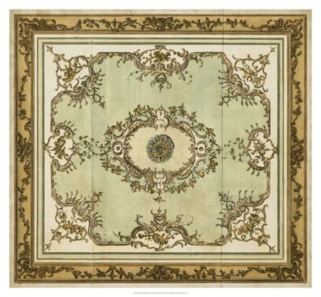 Framed Aubusson Design Print