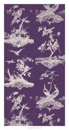 Framed Toile in Plum Print
