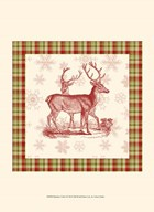 Reindeer Toile I  Fine Art Print
