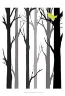Forest Silhouette II Art
