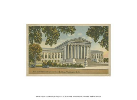 Framed Supreme Court Building, Wash, D.C. Print