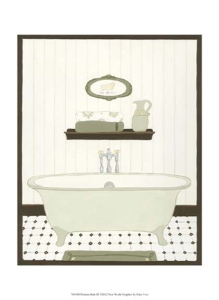 Framed Parisian Bath III Print