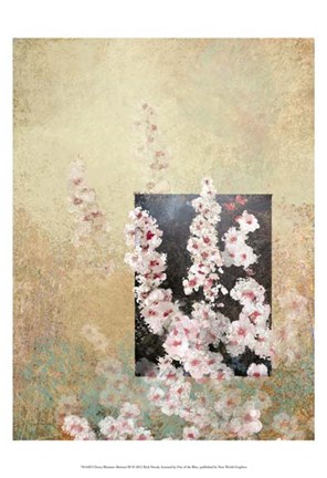 Framed Cherry Blossom Abstract III Print