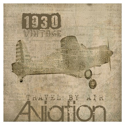 Framed Aviation I - Mini Print