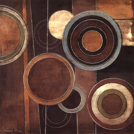 Framed Abstract Circles II Print