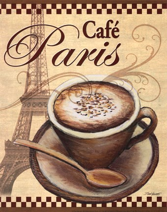 Framed Paris Cafe Print