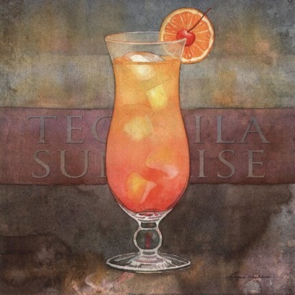 Framed Tequila Sunrise Print