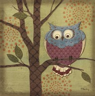 Fantasy Owls III  Fine Art Print