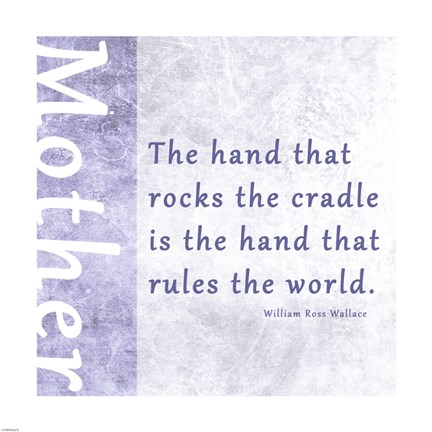 Framed Hand that Rocks the Cradle Print