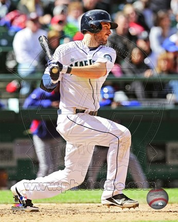 Framed Dustin Ackley 2013 Action Print