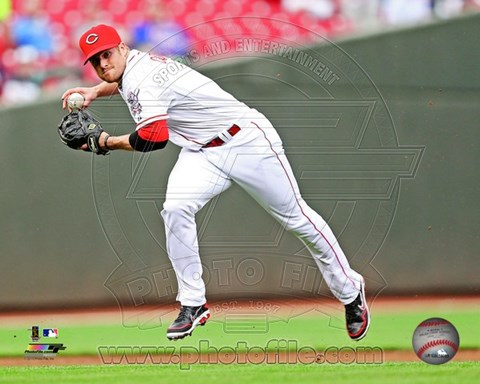 Framed Zack Cozart in action 2013 Print