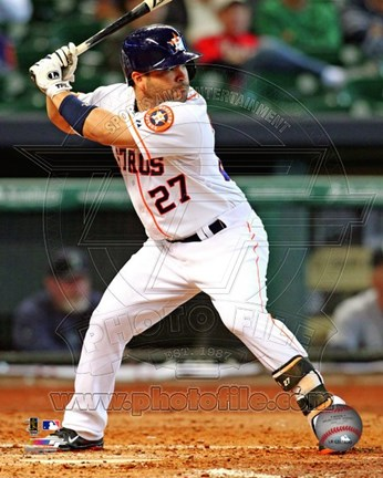 Framed Jose Altuve 2013 Action Print