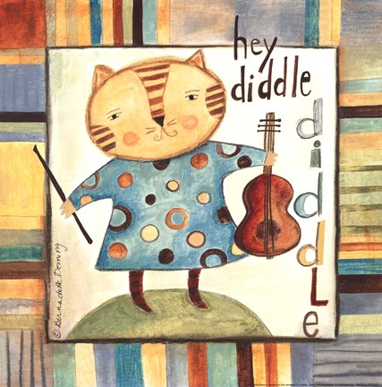 Framed Hey Diddle Diddle Print