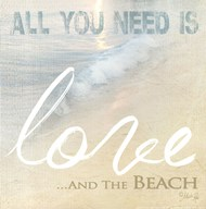 Love And The Beach  Fine Art Print
