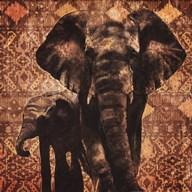 Patterned Elephants  Fine Art Print