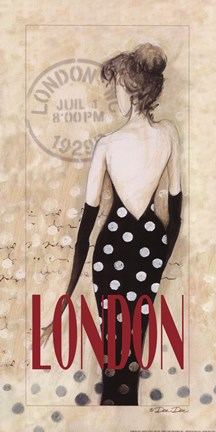 Framed London Lady Print