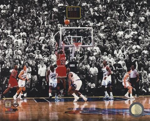 Michael Jordan 1998 Nba Finals Game Winning Shot Fine Art
