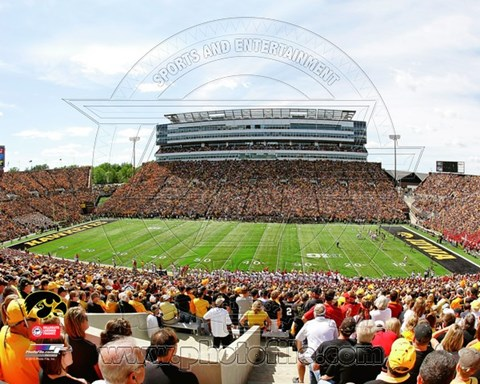 Framed Kinnick Stadium University of Iowa Hawkeyes 2012 Print