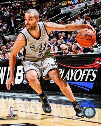 Framed Tony Parker 2012-13 Playoff Action Print