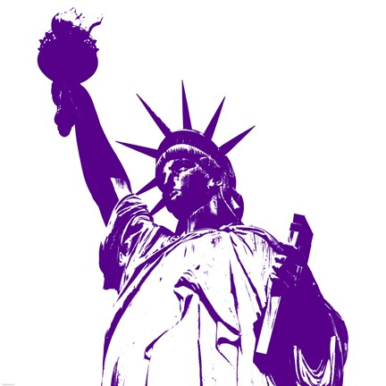 Framed Liberty in Purple Print