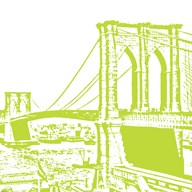 Lime Brooklyn Bridge Art