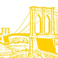 Yellow Brooklyn Bridge Art