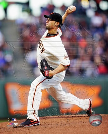 Framed Ryan Vogelsong 2013 San Francisco Giants Print