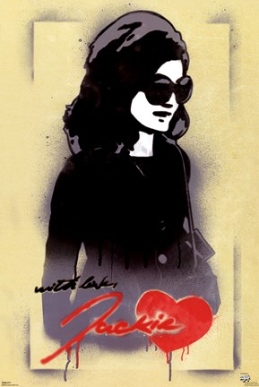 Framed Jackie O - With Love Print