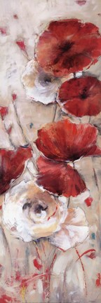 Framed Poppies Afield II Print