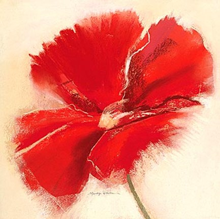 Framed Red Poppy Power IV Print