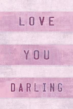 Framed Love You Darling Print