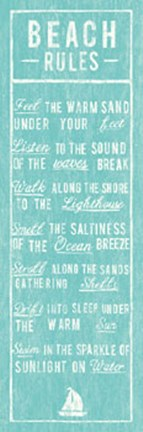 Framed Beach Rules Print