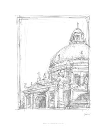 Framed Sketches of Venice II Print