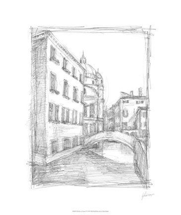 Framed Sketches of Venice IV Print