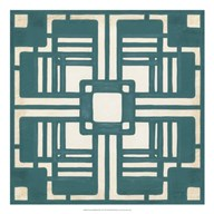 Non-Embellished Deco Tile I  Fine Art Print
