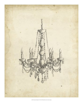 Framed Classical Chandelier II Print