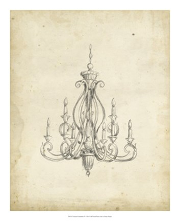 Framed Classical Chandelier IV Print