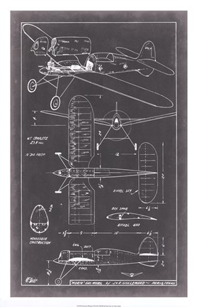 Framed Aeronautic Blueprint II Print