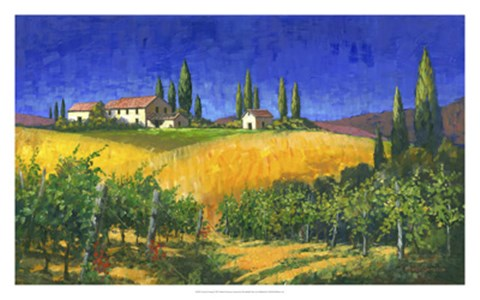 Framed Tuscan Evening Print