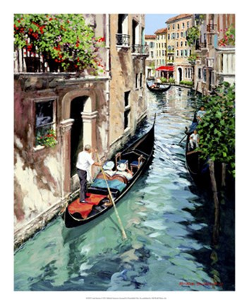 Framed Canal Interno Print