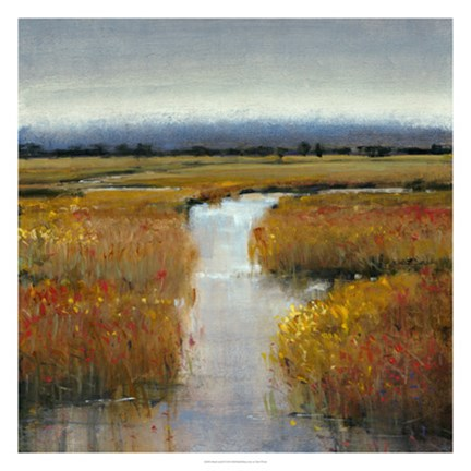 Framed Marsh Land II Print