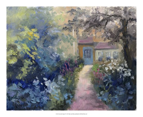 Framed Cotswold Cottage VI Print