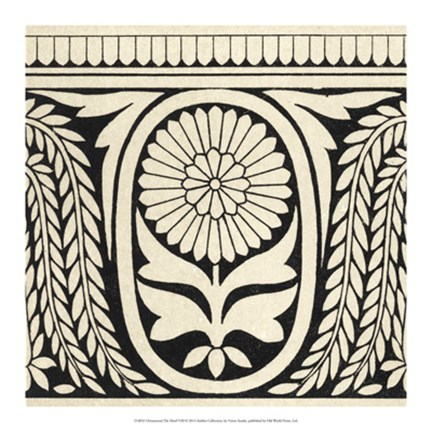 Framed Ornamental Tile Motif VIII Print