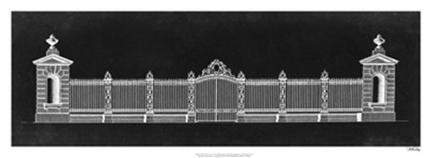 Framed Graphic Palace Gate I Print