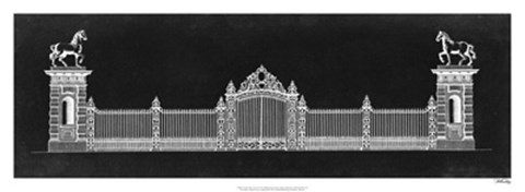 Framed Graphic Palace Gate II Print