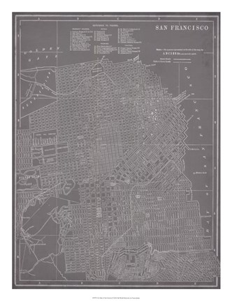 Framed City Map of San Francisco Print